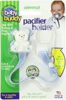 Baby Buddy Universal Pacifier Holder, Blue with White Stitch by