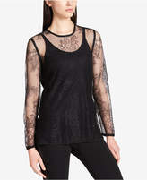 DKNY Floral Lace Top