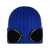 C.P. Company C.P. CompanyBoys Blue Knitted Goggle Hat