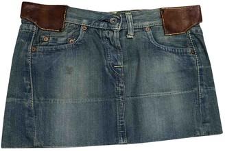 Evisu Blue Denim - Jeans Skirt for Women