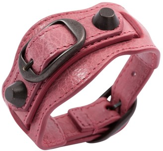 Balenciaga Pink Leather Bracelets