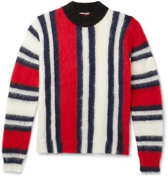 MONCLER GENIUS 2 Moncler 1952 Striped Mohair-Blend Mock-Neck Sweater