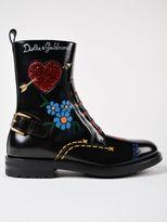 Dolce & Gabbana Lucido Combat Boots