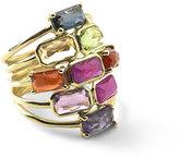 Ippolita 18k Rock Candy Mosaic Cascade Ring, Fall Rainbow