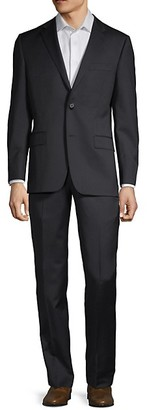 Hickey Freeman Classic Fit Wool Suit