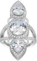 JLO by Jennifer Lopez Cubic Zirconia Teardrop 3-Stone Ring