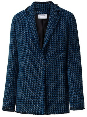 Akris Punto Tweed Single Button Blazer