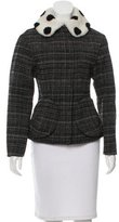 Marc Jacobs Shearling-Collared Fitted Jacket