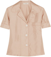 Araks Shelby Polka-dot Silk-satin Pajama Top - Antique rose