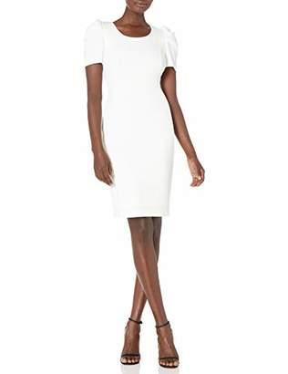 Calvin Klein Women's Ruched Short Sleeved Sheath Dress