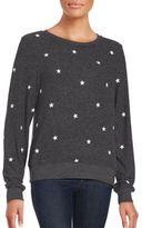 Wildfox Couture Long Sleeve Star Print Sweatshirt