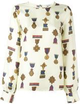 P.A.R.O.S.H. medal print blouse