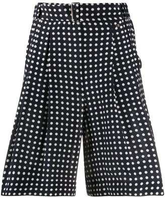 Paul & Shark High-Waisted Polka Dot Shorts