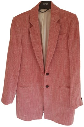 Jigsaw Red Cotton Jacket for Women
