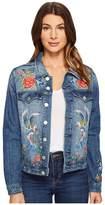 Blank NYC Denim Embroidered Jacket in Wild Child