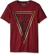 GUESS Men's Triangle Text T-Shirt