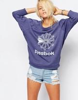 Reebok Batwing Slouchy Sweatshirt With Retro Logo