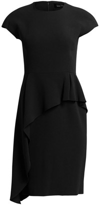 Teri Jon By Rickie Freeman Asymmetrical Peplum Dress