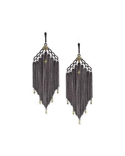 Armenta Old World Chain Tassel Earrings