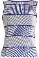Issey Miyake Tribal-print sleeveless top