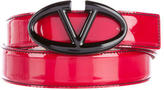 Valentino Patent Leather Logo Belt