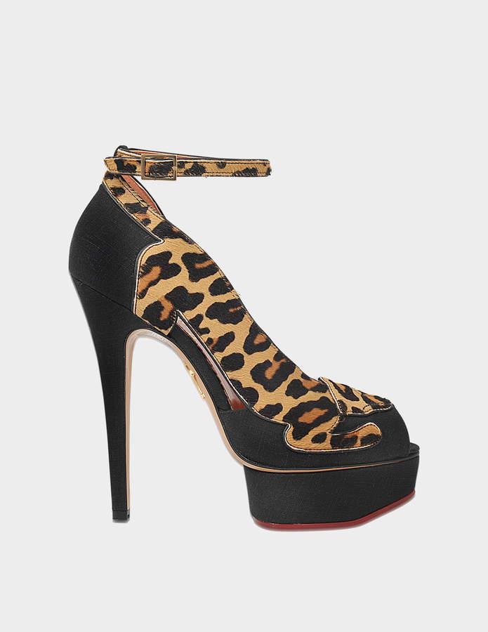 Charlotte Olympia Leopardess pump