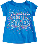 First Impressions Girl Power-Print Cotton T-Shirt, Baby Girls, Created for Macy's