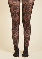 ModCloth Ornate Got the Time Tights