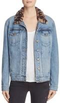 Joe's Jeans Denim Faux-Fur Collar Boyfriend Jacket