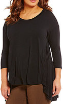 Gibson & Latimer Plus Solid Hi-Low Knit Tunic