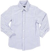 E-Land Kids Stripe L/S Button Down - Royal Blue-3T