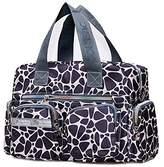 SODIAL(R) Women casual fashion print waterproof nylon bag shoulder messenger bag handbags women's size 31 * 22 * 11.5 cm Style 5