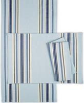 Martha Stewart Collection Place Mat Benton Table Linens Blue 13 X 19