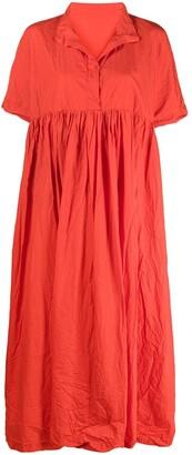 Daniela Gregis Short-Sleeve Flared Dress