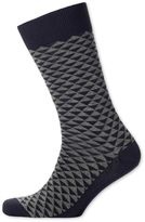 Grey Triangle Socks Size Large By Charles Tyrwhitt