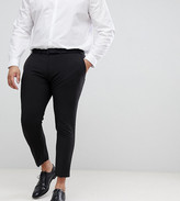 Asos Design DESIGN Plus super skinny cropped smart trousers in black
