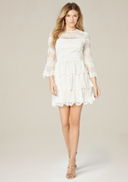 Bebe Olivia Lace Tiered Dress