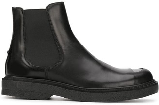 Neil Barrett cut out detail Chelsea boots