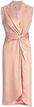 Jonathan Simkhai Luxe Combo Twist Blazer Dress