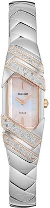 Seiko Women's Tressia Diamond Two Tone Stainless Steel Solar Watch - SUP332