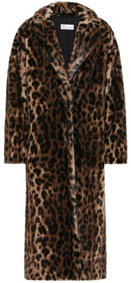 RED Valentino Leopard-print faux fur coat