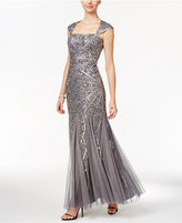 Adrianna Papell Sequin Cutout-Back Mermaid Gown