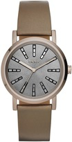 DKNY Soho Beige Gold IP Brown Leather Watch