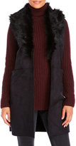 Steve Madden Dakota Vest with Faux Fur Collar