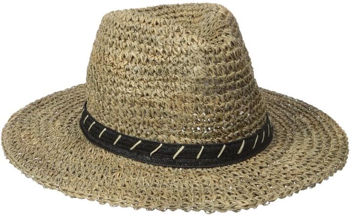 San Diego Hat Company San Diego Hat Co. Men's 3 inch Brim Crown Crochet Straw Sun Packable