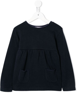 Bonpoint relaxed-fit front-pocket sweatshirt