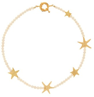 Timeless Pearly Star, Pearl & 24kt Gold-plated Choker - Gold
