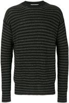 McQ by Alexander McQueen stripped knitted jumper - men - Wool/Alpaca - S