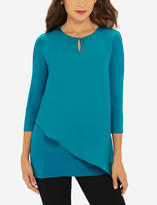 The Limited Woven Front Asymmetrical Tunic