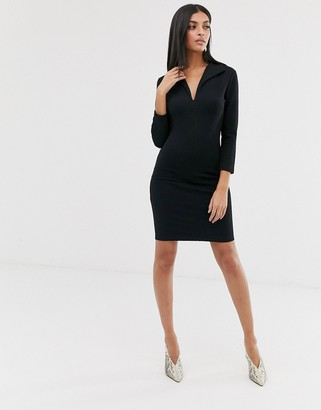 French Connection jersey v neck dress